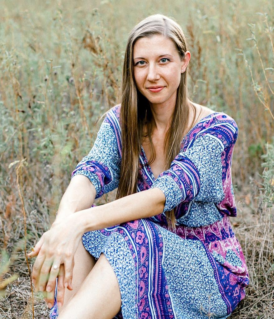 paula in a field