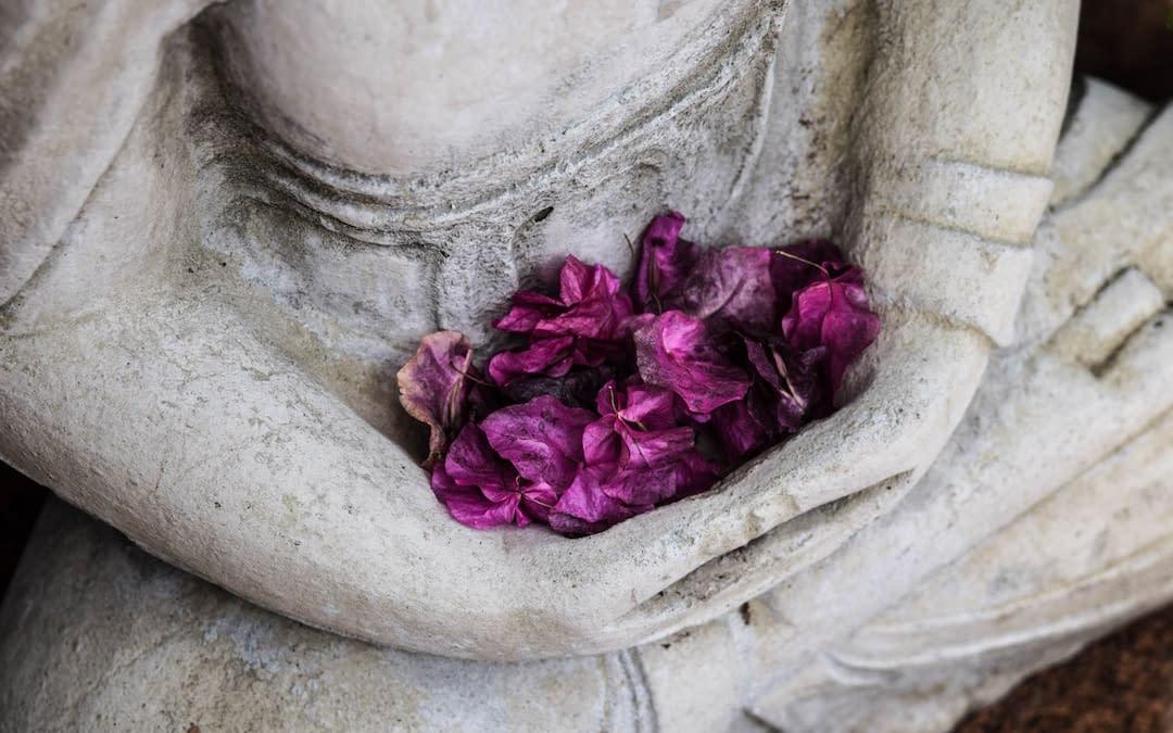 statue flower petals
